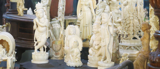 Ivory carvings