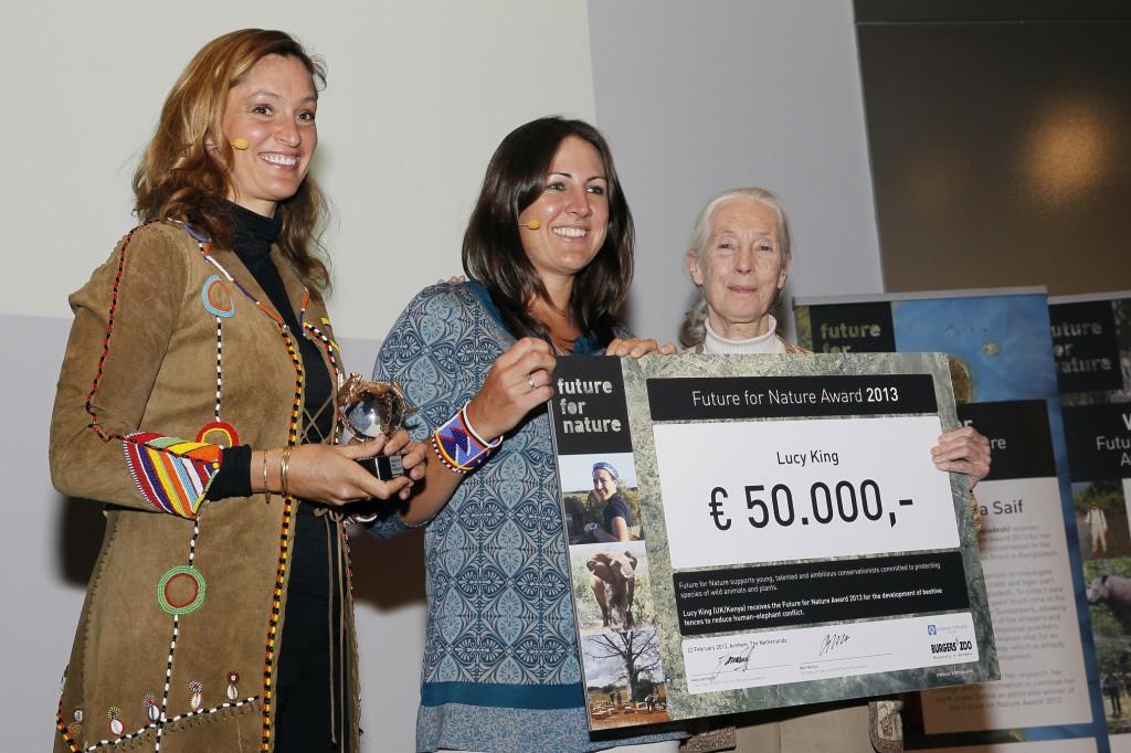 Saba Douglas-Hamilton, Lucy and Jane Goodall FFNA Award ceremony