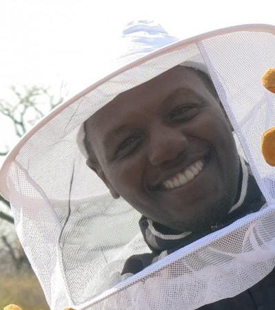 Robert in bee suit