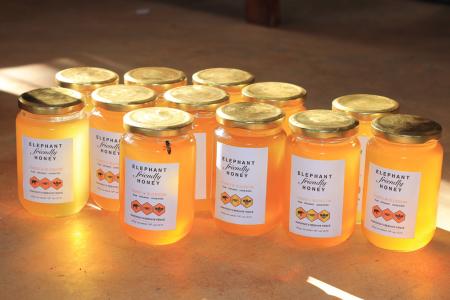 Jars with bee (s)