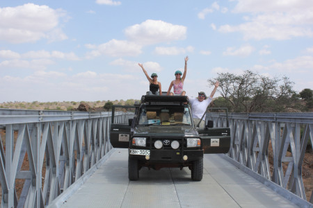 KING Interns on Tsavo Bridge 7th Nov 2015 (s)