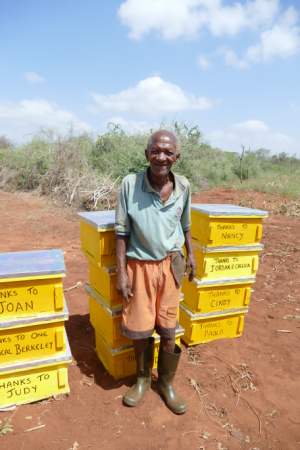 Daudi with his new hives