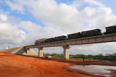 A completed section of the SGR