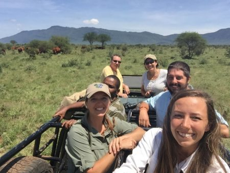 Group selfie while searching for crop raiding elephants