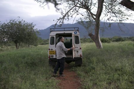 The trusty landrover - that is essential for all our project work.