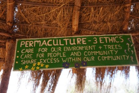 Signs that hang in our outdoor classroom and showcase some of the permaculture principles of the garden.