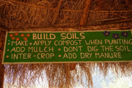 another sign that hangs in the outside classroom to generate knowledge and enthusiasm in permaculture