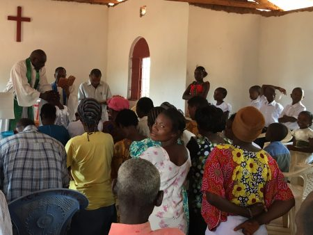 Mwakoma Church - the baptism of Nzumu's son