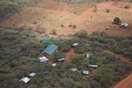 E&B research centre from the air (Mwakoma, Sagalla)