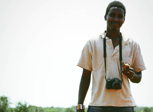 Lemayian Kennedy, a young Kenyan conservationist